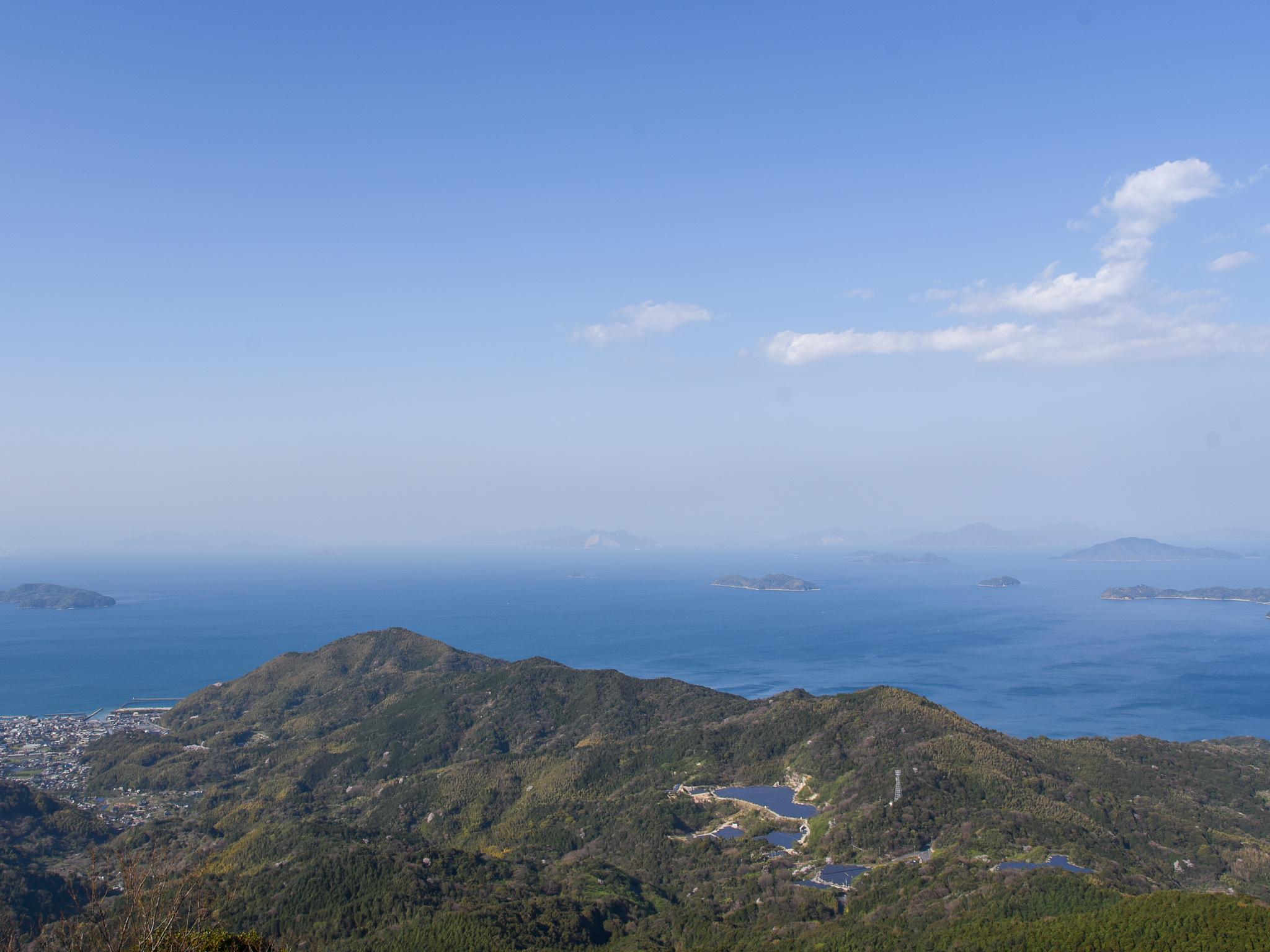 多島美を望む瀬戸内海